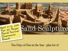 Sugar Sand Festival will celebrate its 2nd year in #Clearwater this year.  Plan for it!