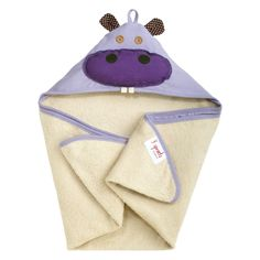 3 Sprouts Hazel the Hippo Purple Hooded Towel. #laylagrayce #pantone #radiantorchid #holidaygiftsop $25.00