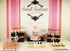 Sweet Sixteen Sweet Table
