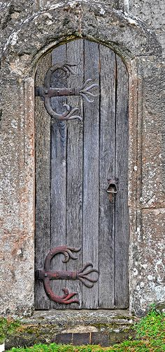 Weathered old church door..love the hinges!