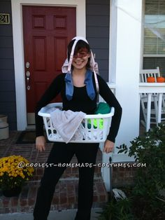 Last Minute Homemade Costume Idea: Dirty Laundry!… Enter Coolest Halloween Costume Contest at http://ideas.coolest-homemade-costumes.com/submit/