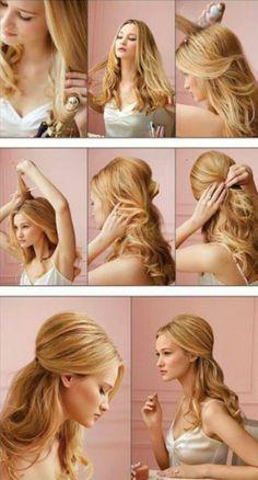 hair bump styles, bridesmaid hair, hairstyle tutorials, ball hairstyle, wedding hairs