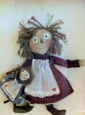 Carol Spence Sellner's Framed Raggedy Ann Dolls -Signed Miniatures