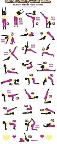 Pilates Flexibility routine, but it would be great to use for stretching