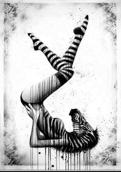 sit, graphic, inspir, artist, black, design, stripe, illustr, zebras