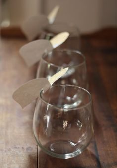 How To: DIY Wine Glass Place Cards
