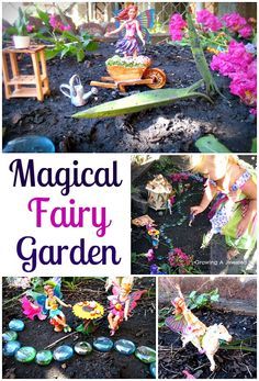 Create a magical fairy garden - so fun, and can be made using whatever you have on hand.