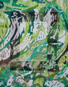 The Greens of Spring, Robin M. Haller Fiber Art