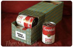 Soda Can Box becomes Canned Food Storage