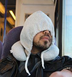 hood travel, stuff, gift ideas, hoodi pillow, ear warmer