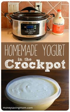 Homemade Yogurt in a #Crockpot