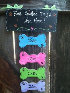 Personalized  Spoiled Dogs sign country wood by EvansCraftHut, $12.00 ummm love the first nameee
