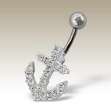 anchor belly button ring. WANT.