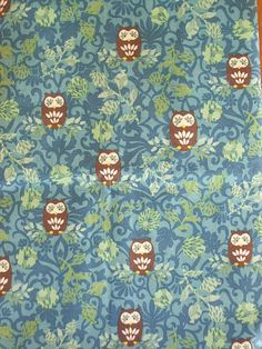 owls on branches fabric