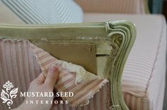 Stripping Upholstery--Miss Mustard Seed