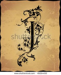 initial tattoos | Vintage Initials Letter J Stock Vector 49264450 : Shutterstock