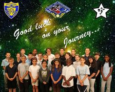 """cizzors: """"Mrs. Cruess' 5th grade class from the Rotella Interdistrict Magnet School in Waterbury, Connecticut made this photograph for the crew of Expedition 38."""""""