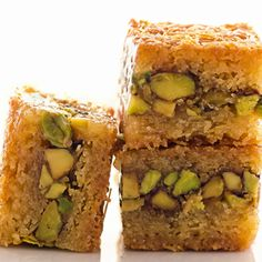 Baklava with a hefty helping of pistachios.
