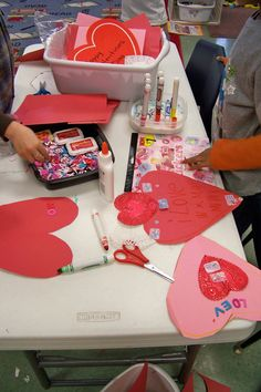 Growing in Pre K - Writing Center  Valentines Day Cards