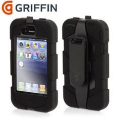 Griffin Survivor Case For iPhone 4S / 4 - Black/Grey - Duststorms, rainstorms, 6 foot drops, whatever lies in your pockets; the Griffin Survivor case for iPhone 4S / 4 is ready for anything.