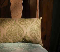 Fiddlehead hand printed linen pillow by giardino on Etsy, $58.00
