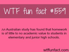 facts on homework