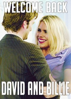 Welcome back to Doctor Who, David Tennant and Billie Piper
