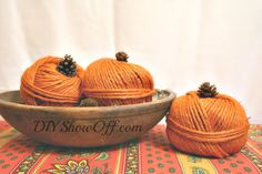 easy+diy+yarn+pumpkins