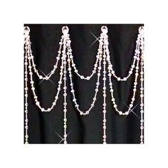 Double+Swag+with+long+Vertical+by+ShowerCurtainBling+on+Etsy decor, crystals, crystal doubl, curtain bling, bright idea, doubl swag, iridesc crystal, shower curtains, bathroom
