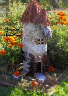 fairy house:another wonderful idea for what to do with a stump! :)
