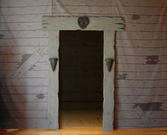 Halloween decorations on pinterest haunted houses for Haunted house scene ideas