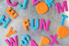 Bake your own letter magnets for alphabet fun!