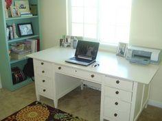 refinished white desk