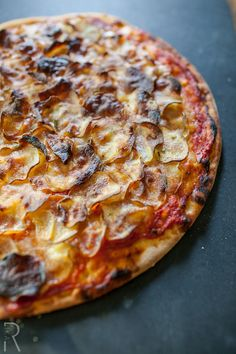 Vegan Crispy Potato Pizza