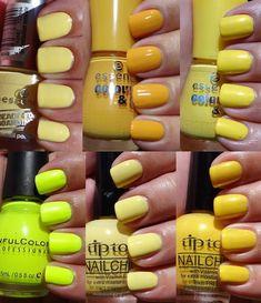 Mellow Yellow Yellow nail polishes
