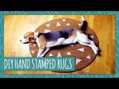DIY Stamped Rug - HGTV Handmade