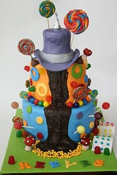 And Everything Sweet: Willy Wonka and The Chocolate Factory Cake