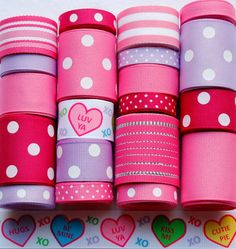 20 Yard Conversation Hearts Valentine by HairbowSuppliesEtc