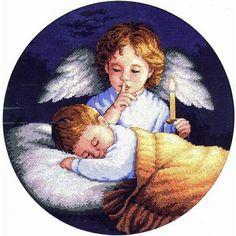 Схемы для вышивания ангел хранитель