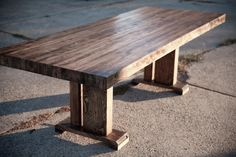 8ft Butcher Block Table for dinning by EmmorWorks on Etsy, $1500.00