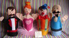 Fantoches Trupe Circo by Frumigaria - Arte em Tecido, via Flickr