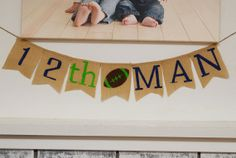 12th Man Seattle Seahawks Banner Sign - 12th Man Flag Burlap Banner Super Bowl Party Decoration on Etsy