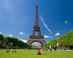 The Eifle Tower in Paris, France