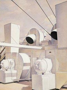 'Upper Deck' (1929) by Charles Sheeler