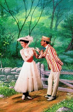 // 'Mary Poppins,' 1964. Julie Andrews and Dick Van Dyke.