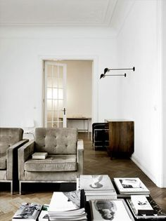 casual..love the black wall lights