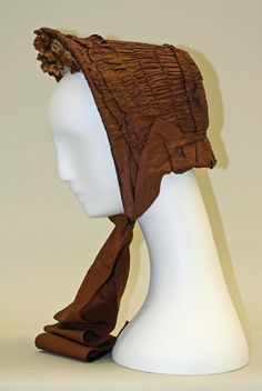 Bonnet  Date: ca. 1863  Culture: American  Medium: silk