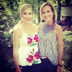 Jessica Robertson from the hit show Duck Dynasty wearing the Judith March rose stitch top! Available at aliandcoboutique.com! We have two smalls and one large left! Shop online or in the store today.