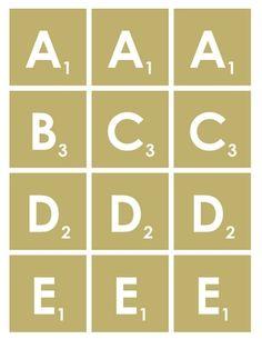FREE Scrabble Letters