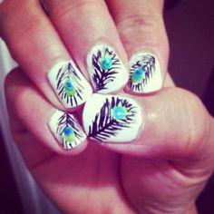 peacock feathers, nail polish, hands, fingers, nail designs, peacock nail, nail arts, paints, feather nails
